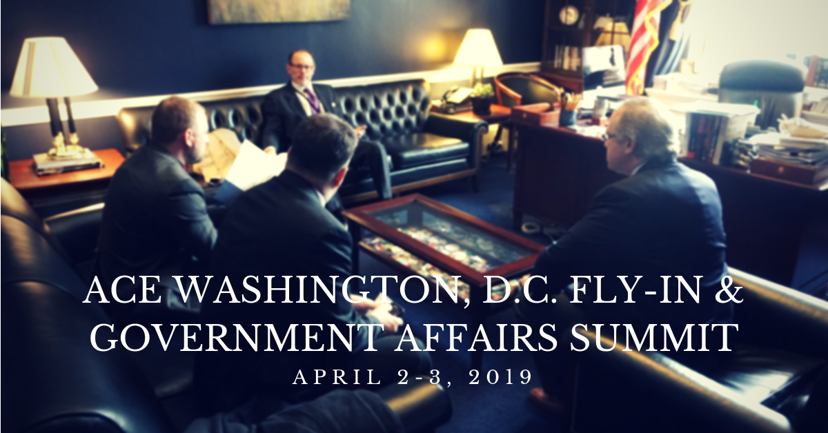 ACE announces dates for 2019 Washington, DC fly-in and government affairs summit