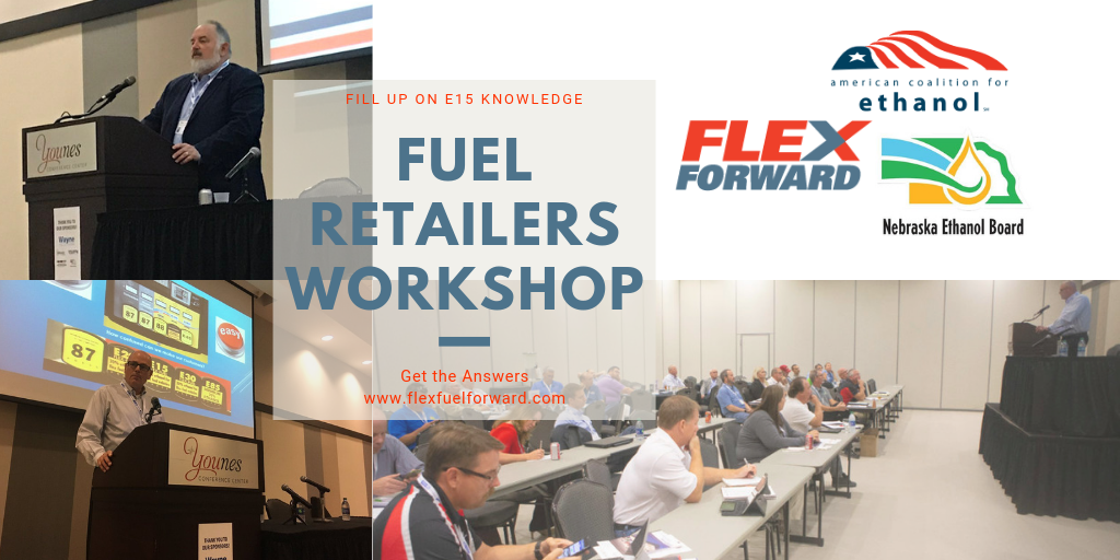 ACE leadership keynotes NEB-hosted training event for fuel retailers interested in adding E15, higher ethanol blends