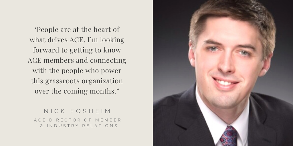 ACE appoints Fosheim as Director of Member and Industry Relations