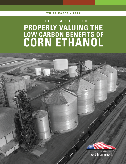 American Coalition for Ethanol - White Paper - Published August 2018